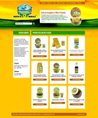 Desenvolvimento de Website para a Natu's Minas