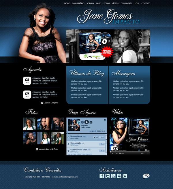 Desenvolvimento de Website para Jane Gomes