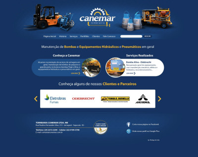 Desenvolvimento de Website para a Tornearia Canemar