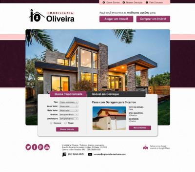 Desenvolvimento de Website para a Imobiliária Oliveira