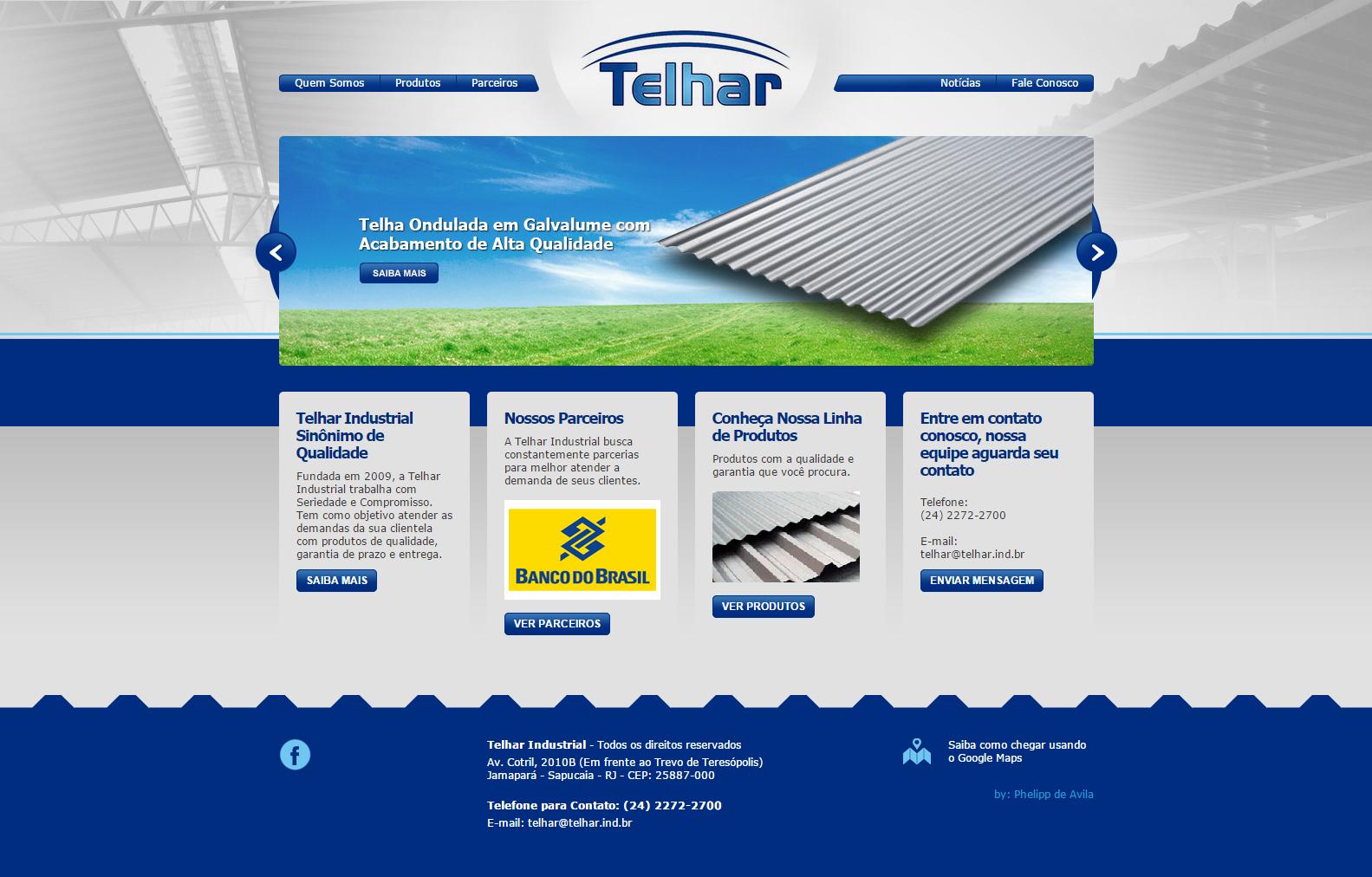 Desenvolvimento de Website para a Telhar Industrial