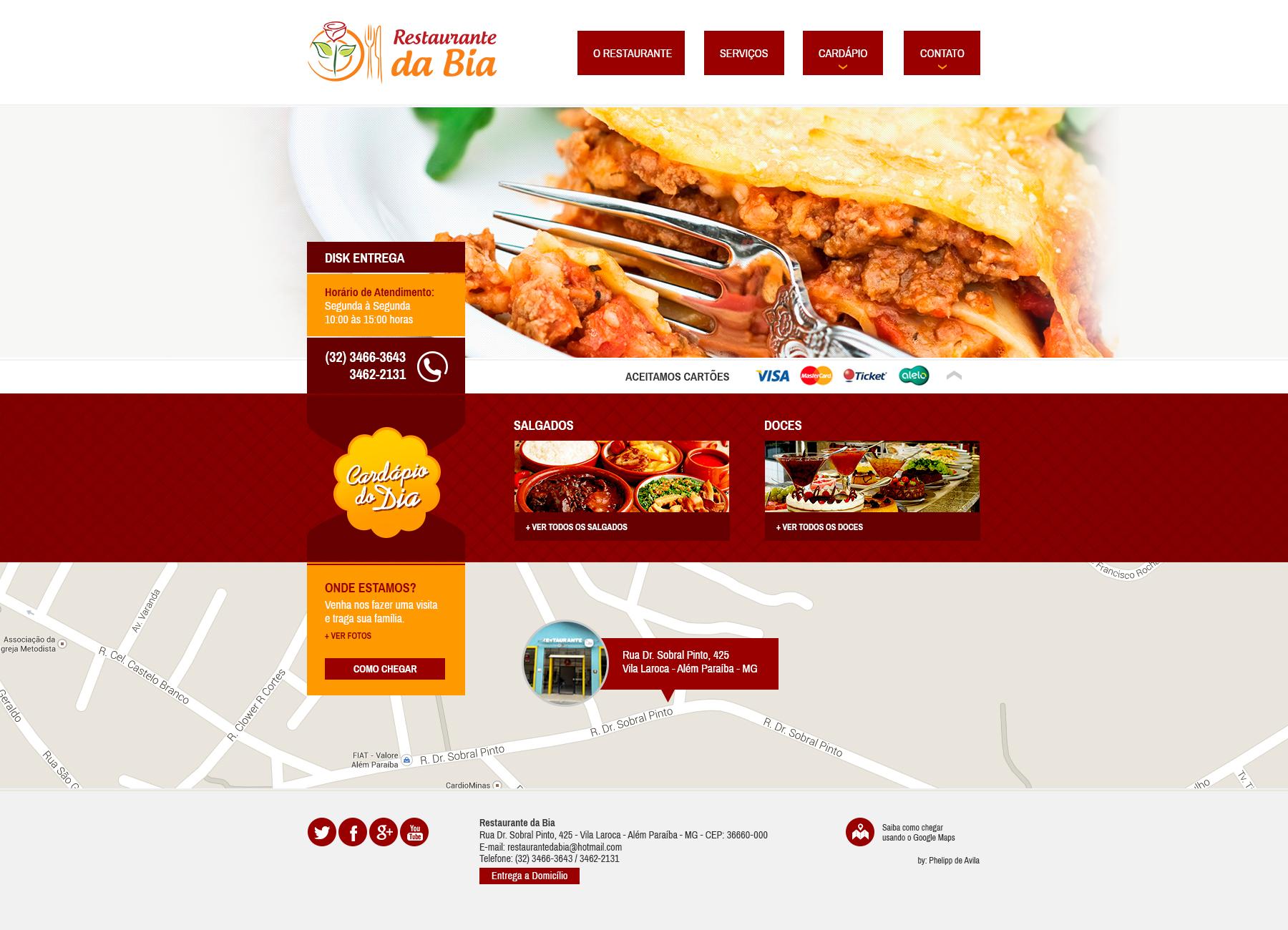 Desenvolvimento de Website para o Restaurante da Bia