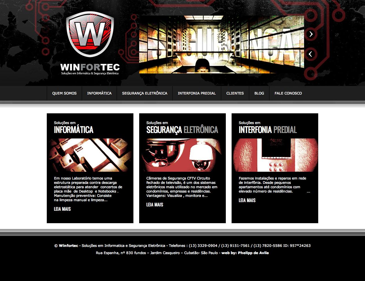 Desenvolvimento de Website para a Winfortec