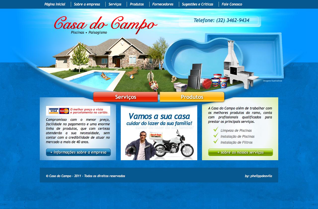 Desenvolvimento de Website para Casa do Campo Piscinas