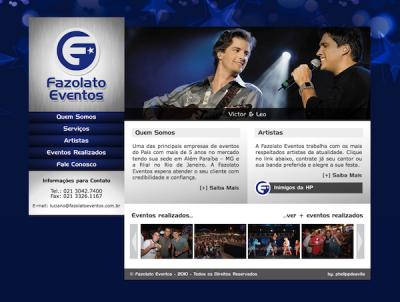 Desenvolvimento de Website para a Fazolato Eventos