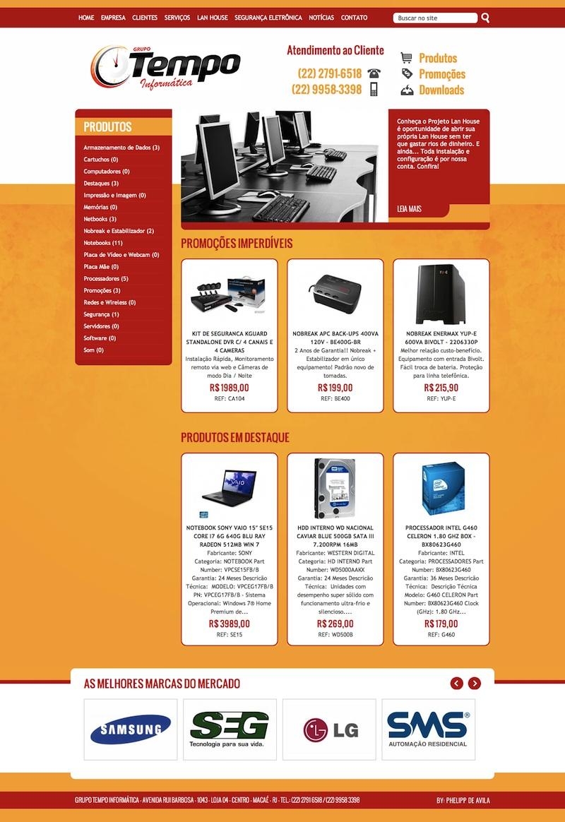 Desenvolvimento de Website para o Grupo Tempo Informática